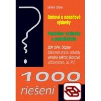 1000 riešení 1/2019 - prehľad zmien a príklady z praxe po novele: Daňové a nedaňové výdavky, Paušálne výdavky u podnikateľa