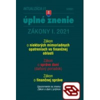 Zákony 2021 I aktualizácia I 1 - daňové a účtovné zákony (opatrenia proti koronavírusu)