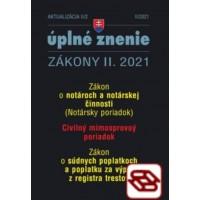 Zákony 2021 II aktualizácia II 2 - Civilný mimosporový poriadok a Notársky poriadok
