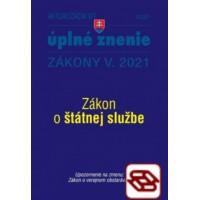 Zákony 2021 V aktualizácia V 1 - štátna služba, informačné technológie verejnej správy