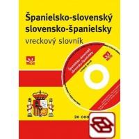 Španielsko-slovenský a slovensko-španielsky vreckový slovník + CD - 20 000 hesiel