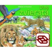 Divé zvieratá - Kniha a puzzle - Obsahuje 4 celostranové puzzle zo 48 dielov