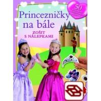 Princezničky na bále - Zošit s nálepkami
