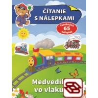 Čítanie s nálepkami - Medvedík vo vlaku