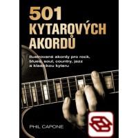 501 Kytarových akordú - Ilustrované akordy pro rock, blues, soul, country, jazz a klasickou kytaru