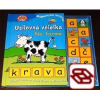 Usilovná včielka: Na farme - Magnetická knižka - Krava