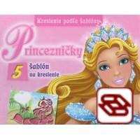 Kreslenie podľa šablóny: Princezničky - 5 šablón na kreslenie