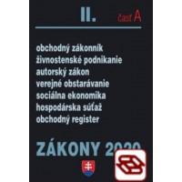 Zákony 2020 II. A - Obchodné zákony – Úplné znenie k 1.1.2020 (Obchodné právo, autorské právo a živnostenský zákon)