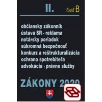 Zákony 2020 II. B - Občianske zákony – Úplné znenie k 1.1.2020 (Občianske právo, notársky poriadok, advokácia, súkromná bezpečnosť, ochrana spotrebiteľa)
