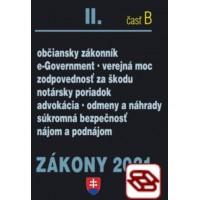 Zákony 2021 II. B - Občianske právo, Notári, Advokáti, Prokurátori, Súkromná bezpečnosť