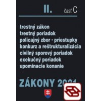 Zákony 2021 II. C - Trestné právo, Exekučný poriadok, Správne právo a súdne spory