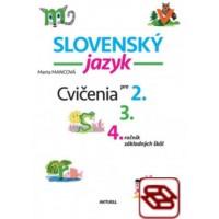 Slovenský jazyk - cvičenia pre 2., 3. a 4. ročník základných škôl