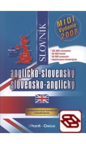 Anglicko-slovenský, slovensko-anglický slovník - MIDI vydanie 2008